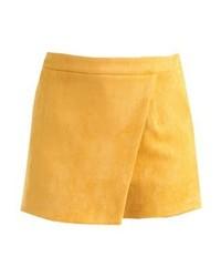 gelbe Ledershorts von Missguided