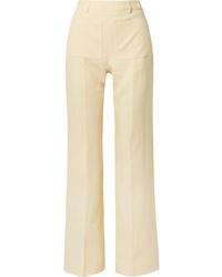 gelbe Leinen Anzughose von Acne Studios