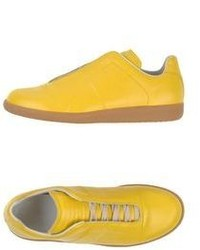 gelbe niedrige Sneakers