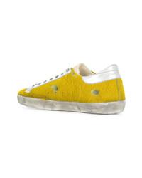 gelbe niedrige Sneakers von Golden Goose Deluxe Brand