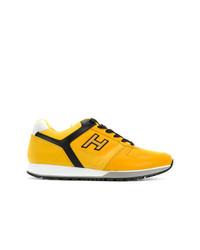 gelbe niedrige Sneakers von Hogan