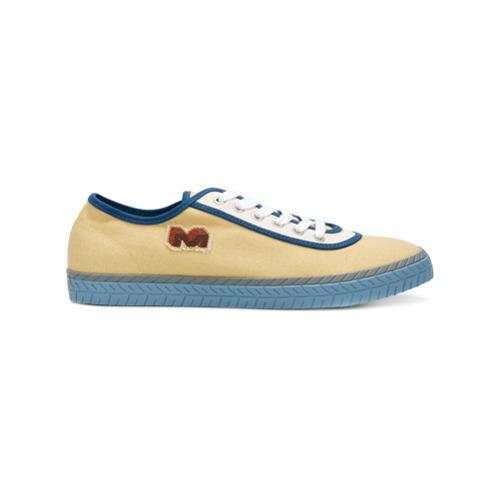 gelbe niedrige Sneakers von Marni