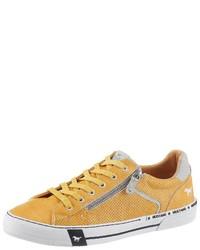 gelbe niedrige Sneakers von Mustang Shoes