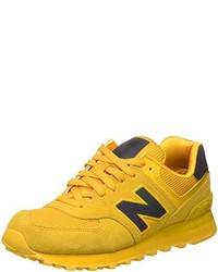 gelbe niedrige Sneakers von New Balance