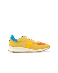 gelbe niedrige Sneakers von Philippe Model