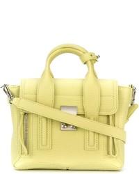 gelbe Satchel-Tasche aus Leder von 3.1 Phillip Lim