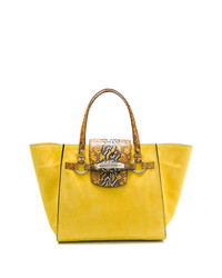 gelbe Satchel-Tasche aus Leder von Ermanno Scervino
