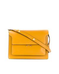 gelbe Satchel-Tasche aus Leder von Marni