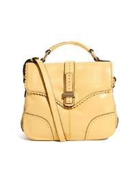 gelbe Satchel-Tasche aus Leder von Modalu