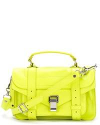 gelbe Satchel-Tasche aus Leder von Proenza Schouler