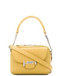 gelbe Satchel-Tasche aus Leder von Tod's