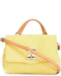 gelbe Satchel-Tasche aus Leder von Zanellato
