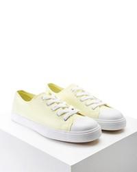 gelbe Segeltuch niedrige Sneakers