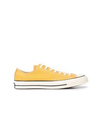 gelbe Segeltuch niedrige Sneakers von Converse