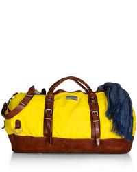 gelbe Segeltuch Sporttasche