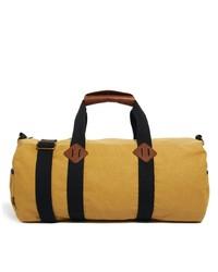 gelbe Segeltuch Sporttasche von Asos