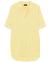 gelbe Seidebluse mit knöpfen von DKNY