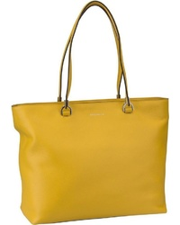 gelbe Shopper Tasche aus Leder von Coccinelle