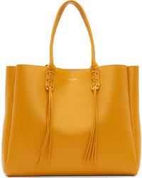 gelbe Shopper Tasche aus Leder von Lanvin