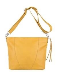 gelbe Shopper Tasche aus Leder von Legend