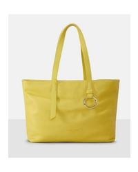 gelbe Shopper Tasche aus Leder von Liebeskind Berlin
