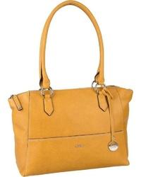 gelbe Shopper Tasche aus Leder von Picard