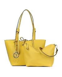 gelbe Shopper Tasche aus Leder von SURI FREY