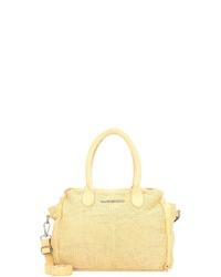 gelbe Shopper Tasche aus Leder von Taschendieb Wien