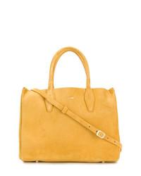 gelbe Shopper Tasche aus Wildleder von Lanvin
