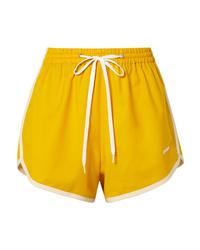gelbe Shorts von Miu Miu