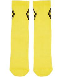 gelbe Socken von Marcelo Burlon County of Milan