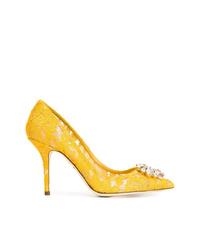 gelbe Spitze Pumps von Dolce & Gabbana