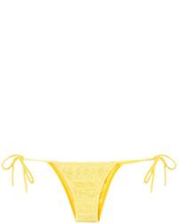 gelbe Strick Bikinihose von Cecilia Prado