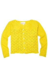 gelbe Strickjacke