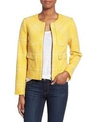 gelbe Tweed-Jacke