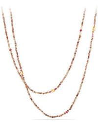 gelbe verziert mit Perlen Halskette