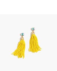 gelbe verziert mit Perlen Ohrringe