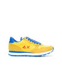 gelbe Wildleder niedrige Sneakers