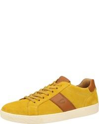 gelbe Wildleder niedrige Sneakers von camel active