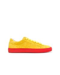 gelbe Wildleder niedrige Sneakers von Hide&Jack