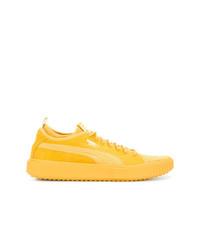 gelbe Wildleder niedrige Sneakers von Puma