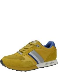 gelbe Wildleder niedrige Sneakers von U.S. Polo Assn.