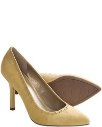 gelbe Wildleder Pumps