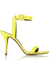 gelbe Wildleder Sandaletten