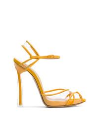 gelbe Wildleder Sandaletten von Casadei