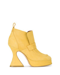 gelbe Wildleder Stiefeletten von Sies Marjan