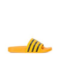 gelbe Zehensandalen von adidas