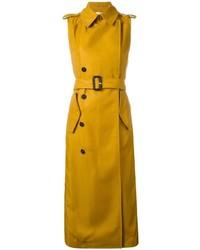 gelber ärmelloser Mantel von Victoria Beckham