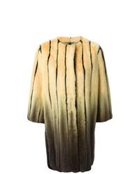 gelber bedruckter Pelz von Fendi