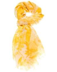 gelber bedruckter Seideschal
